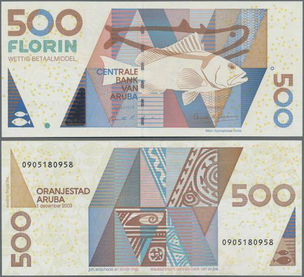 Lot 1068 Aruba 500 Florin 2003 P 45 Auction Part 1 Auktionshaus Christoph Gartner Sixbid
