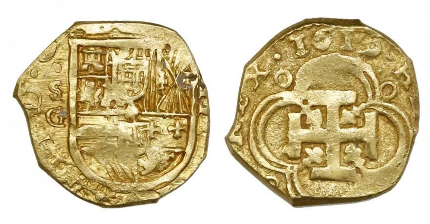 foto de Lot: 90 | Seville, SpainSeville, Spain, cob 2 escudos, 1619G, ex ...