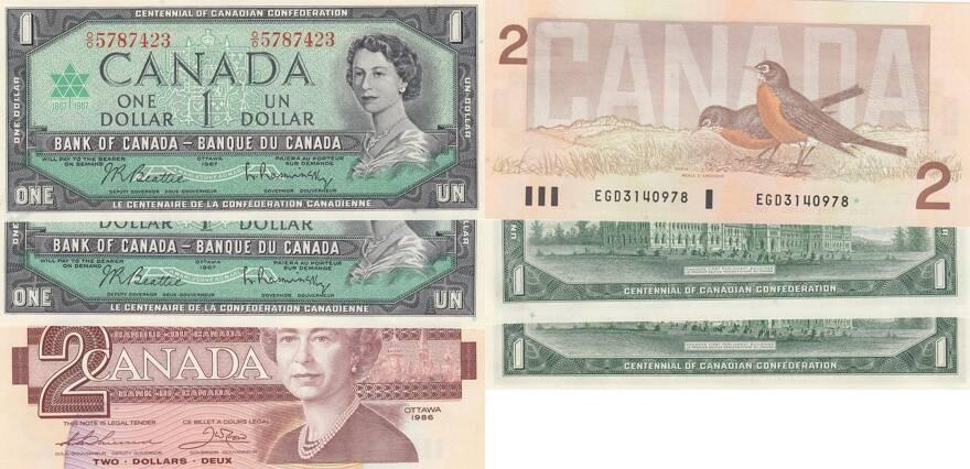 UNC 1986 P-94b Canada 2 Dollars