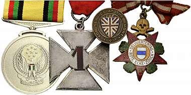 Medal Orden Défense Nationale Frankreich Bandspange deutsches Format