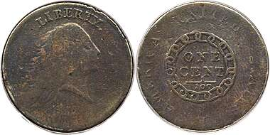 Original Pre Morgan Uncirculated Condition Great Uncirculated Coin GreatSSCoin 1792 Antique Liberty One-Cent Coin US Old Coins Great American Commemorative Coin