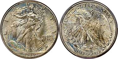 1961 FRANKLIN HALF DOLLAR 50C PCGS MS64 NO SPOTS BEAUTIFUL BRILLIANT COINS E