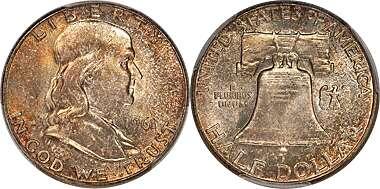 50s /& 60s Legend of The Silver Franklin Half Dollar American Coin Treasure 1940