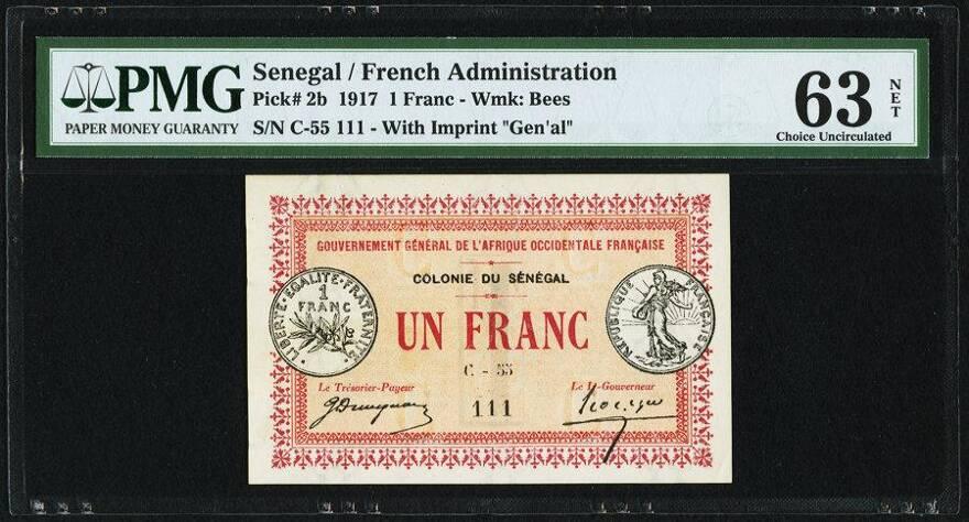 Lot 87156 Senegal Gouvernment