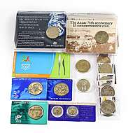 2012 50c Colored /'Coat of Arms/' Exmint Set Coin:Unc