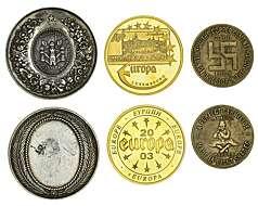 NEW CALEDONIA CIRCULATED COIN PAIR 50 /& 100 FRANCS