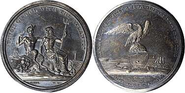 Erie Canal American Canal Society Commemorative Bronze Proof Coin Medal
